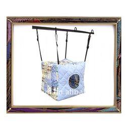 UW-PB-0001 2012 100% cotton plain color square house pet hammock dog bed