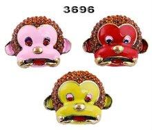Wholesale Monkey Mask alloy rhinestone brooch NO.11100105_3696