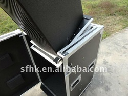 RK Speaker Flight Case with Casters and movable panel----04