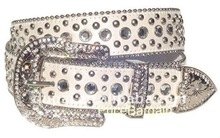 2012 Fashion Western Rhinestone Women's Leather Belt