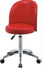 4 wheels red portable beauty salon chair