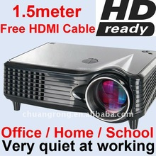 New HD Ready HDMI LCD LED Home Projector Beamer Lowest Noise