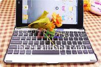 Metal portable wireless bluetooth keyboard case for ipad2 ,MOQ 1pcs good quality!white / black new!