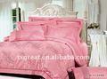 Ropa de cama jacquard 100% conjunto de algodón