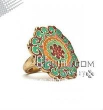 fashion hotsale wholesale shiny gold epoxy alloy ring jewelry