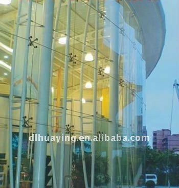 Clear Curved Laminated Glass Curtain Wall Design, View Curtain ...