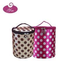 2012 fancy handle cosmetic bag polka dot