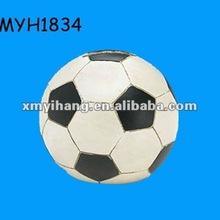 2012 new fashion handmade resin soccer ball coin bank