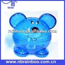 Hot selling top quality fashion plastic mouse shape large coin banks for promotional gift