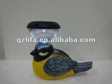 2012 new design solar and sensor singing resin bird garden decor