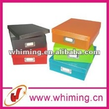Plastic document storage box with fashion color