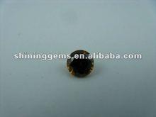fashion gemstone round shape coffee cut cz beads