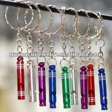fashion sports whistle string steam steel mini alarm whistle