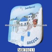 greece image ceramic fridge magnet