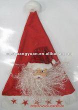 Led christmas hat with christmas santa/ christmas santa hat/ children christmas hat