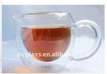 borosilikat glas kristall glas kaffee tasse und untertasse