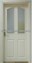 Kaiyang white primed raised panel hollow core HDF Molded glass door