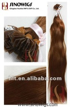 Grade AAA+ Human Hair Curl Pre-bonded Hair Extensions