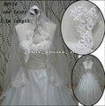 الجملة الجديدة hhv14 2011 طبقة واحدة صغيرة جميلة العروس الدانتيل حافة الحجاب الزفاف عينة حقيقية