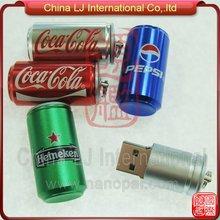 aluminum tin can usb stick, budweiser beer can usb drive, cola drink tin can usb pendrive