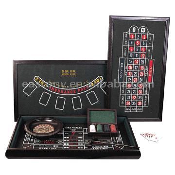 3-In-1 Casino Set,poker chip set,roulette wheel game set