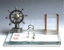 Crystal Nautical Pen Holder Sailing Pen Holders Crystal Horn Pen Holder