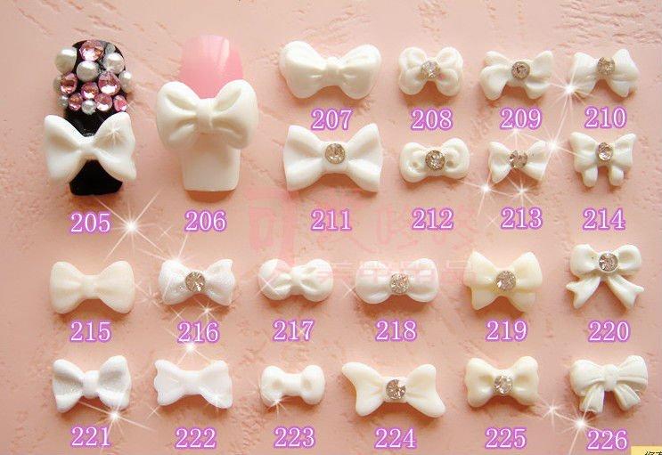 3d acrylic nail bows for 3d acrylic nail art decoration