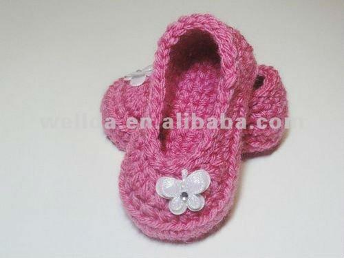 Zapatos hechos a mano del ganchillo del bebé-Zapatos de Bebé ...