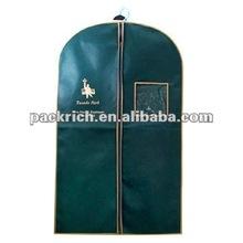 Green delicate non woven garment bag