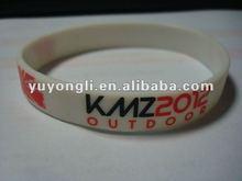 2012 hot silk-screen printed silicon wristband