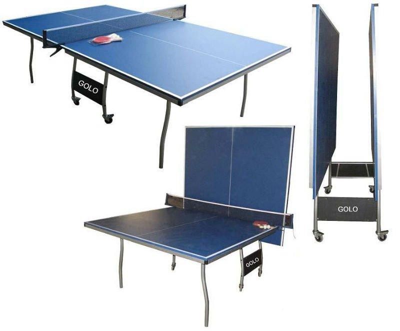 table pliable et mobile de ping pong de table ping pong table de tennis pour d 39 int rieur tables. Black Bedroom Furniture Sets. Home Design Ideas