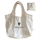 Reusable Cotton Tote Bag with Snap Button Pouch
