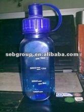 blue New plastic water bottle