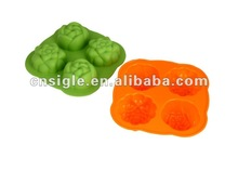 4cups silicone Animal Jelly mould