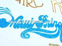 glitter heat transfer printing clear transfer paper
