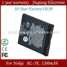 Original bl 5k battery bl-5k for nokia mobile phone c7