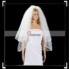 Beautiful Ivory Two Tiers Wedding Bridal Veil with Hair Comb
