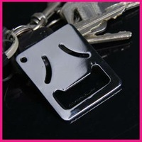 fashion stainless steel wallet size beer bottle opener keychain antique wine key chain openers