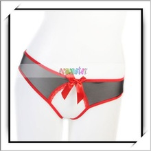 2012 Hot Selling Sexy Women Lingerie Thong T-Back With Red Black