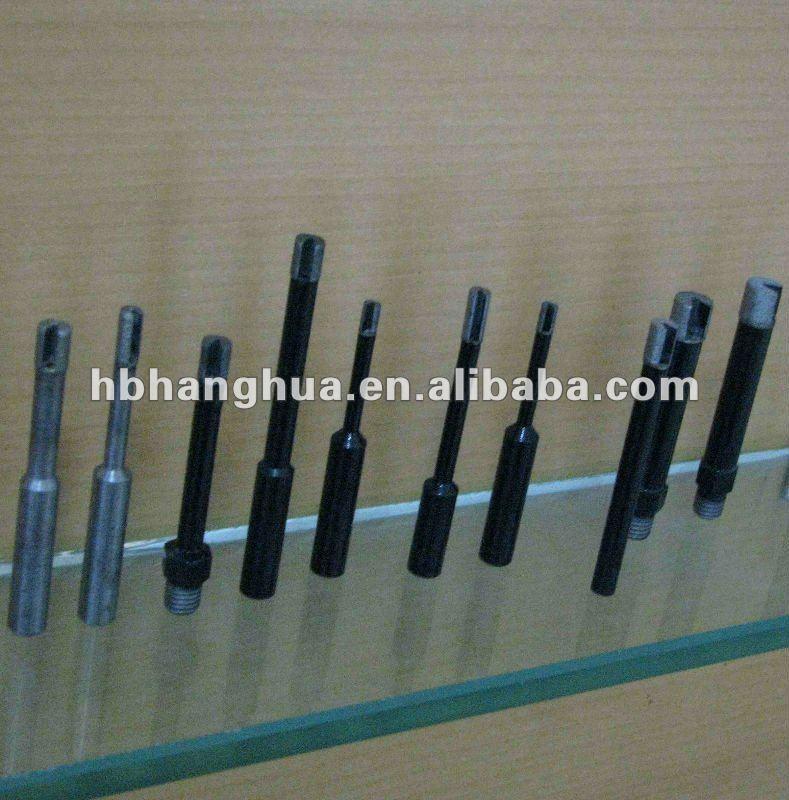 Small diamond drill bits for glass