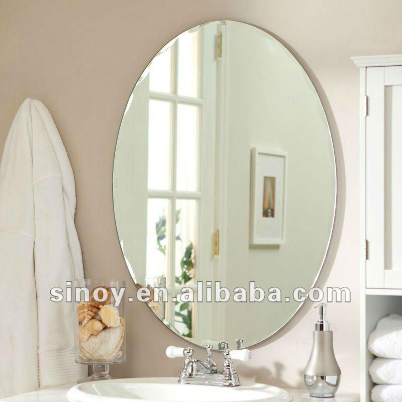 Senza cornice ovale specchio da parete specchio id - Specchio senza cornice ...
