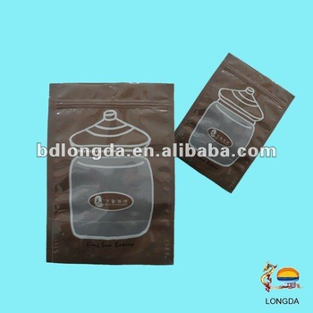 Laminated plastic pack bag food use
