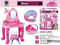 swan vanity dresser, children play house plastic toys accessories
