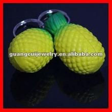fashion pineapple fruit keychain key rings fobs