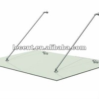 Glass door canopy stainless steel