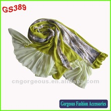 2012 latest design custom luxury lace scarf