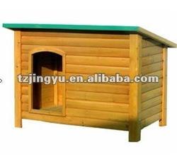 Prefab wooden dog kennel