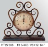 Metal antique table clock for home decor