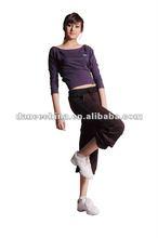 09WV2101 women fashion dance top,dance t-shirt,fashion t-shirts