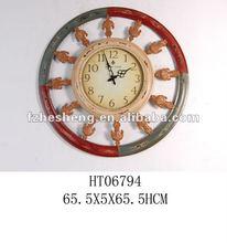 Round Retro Metal Wall Clock